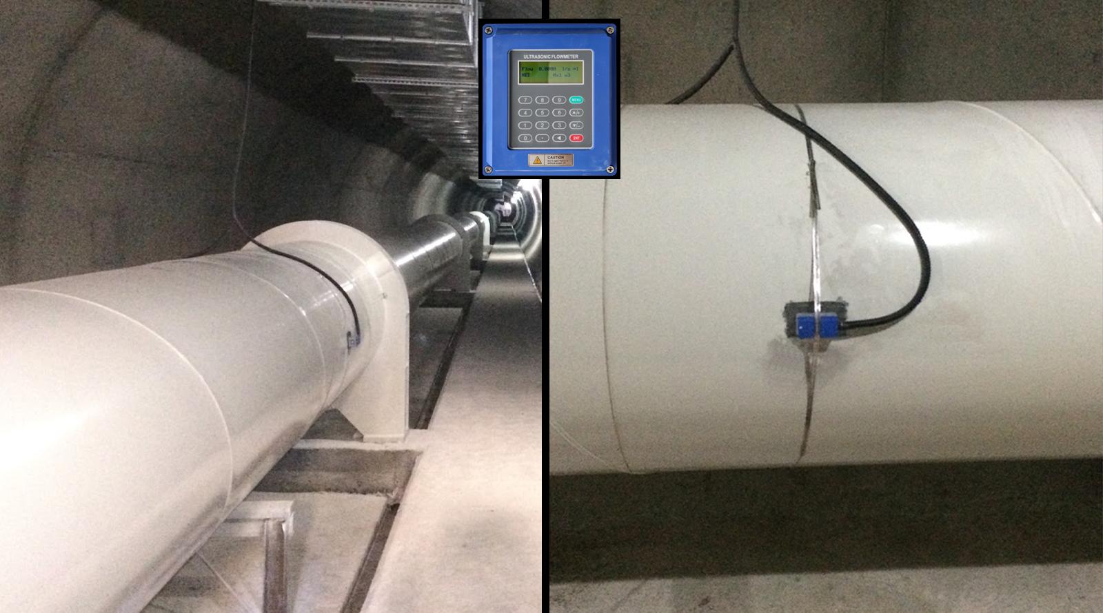 Tünelde Ultrasonik Debimetreli Ölçüm